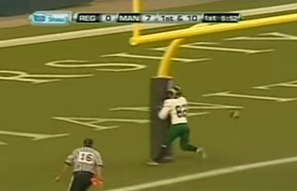 Canadian Football Goal Posts Aren't In the Best Location