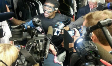 Here's DeAngelo Williams Wearing Goggles During a Press Conference, Like You Do (Pic)