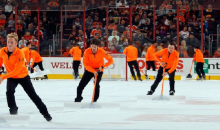 Flyers Ice Girls Get Replaced with Clothed Men, Who Get Booed (Video)