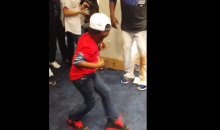 Juan Uribe's Son Got Happy Feet From The Dodgers Win Last Night (Video)