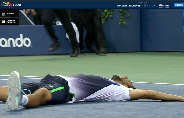 Marin Cilic Looked Pretty, Ahem...Excited to Win the US Open