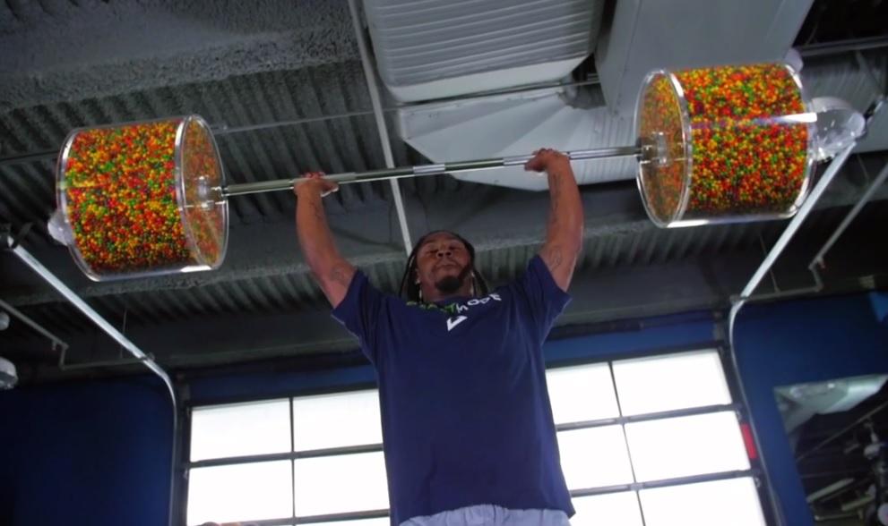 Marshawn Lynch Skittles workout