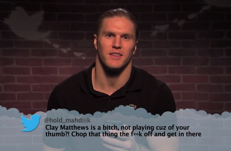Mean Tweets NFL Edition Clay Matthews