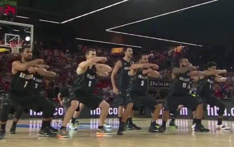 New Zealand basketball haka