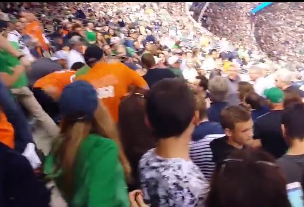 Notre Dame brawl