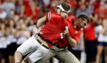 Ohio State Strength Coach Takes Down Field Crasher…HARD (Video)