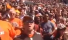 "Ravens Fan Celebrates Ravens TD in Cleveland's ""Dawg Pound"" (POV Video)"