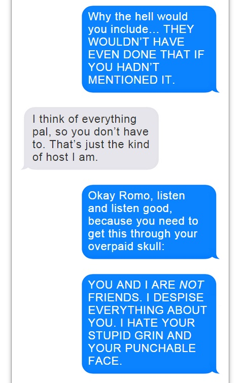 Romo Brees Text Convo - 10