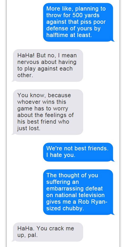Romo Brees Text Convo - 2