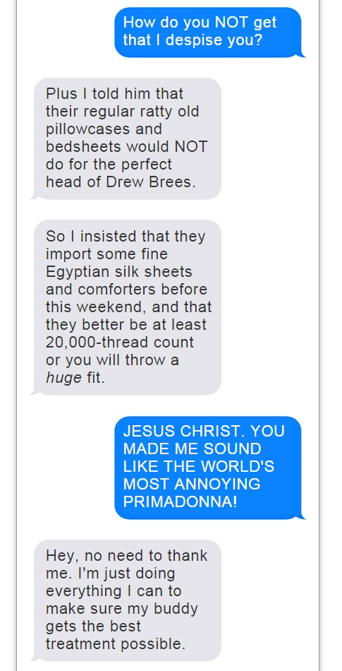Romo Brees Text Convo - 5
