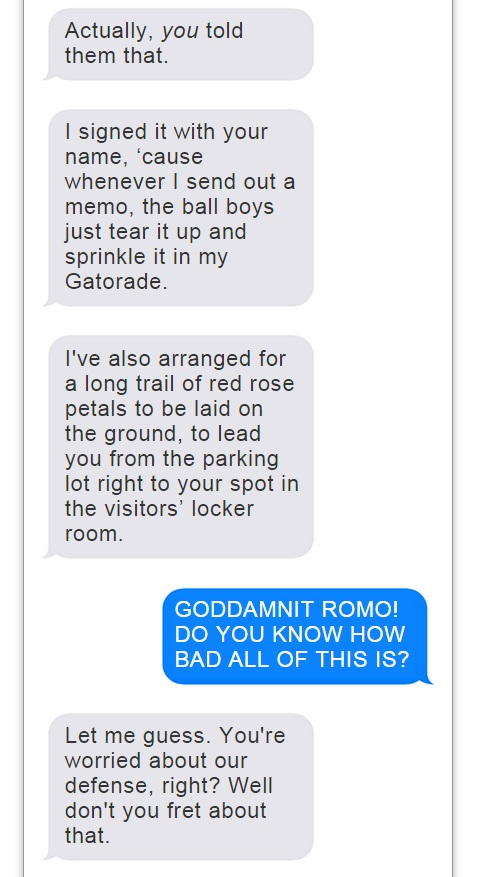 Romo Brees Text Convo - 7