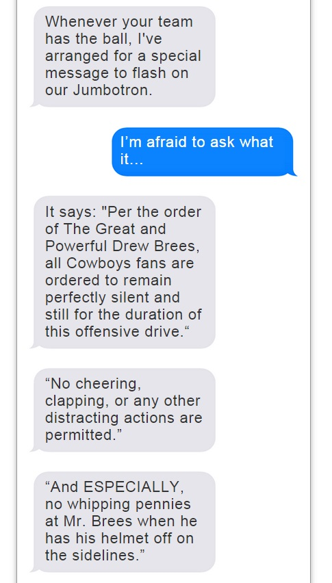 Romo Brees Text Convo - 9