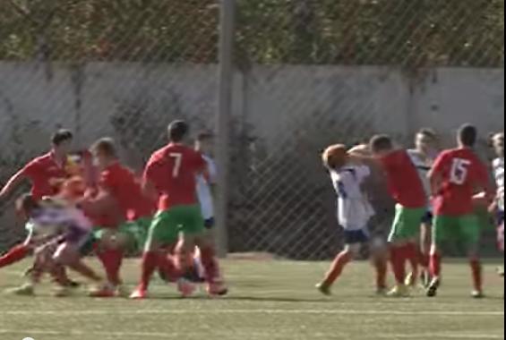 Russian soccer brawl