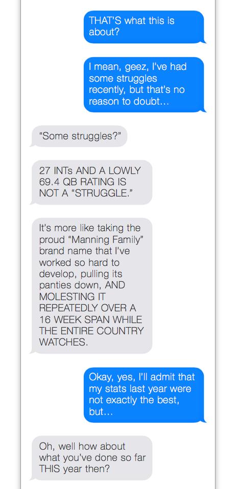 Eli Manning Text