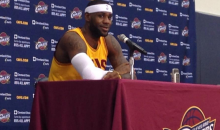 LeBron James Gets Back in a Cavs Jersey for Media Day (Pics)