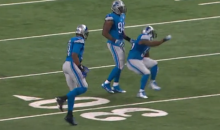 This Stephen Tulloch Celebration Fail Was Probably the Highlight of Yesterday's Lions-Packers Game (Videos)
