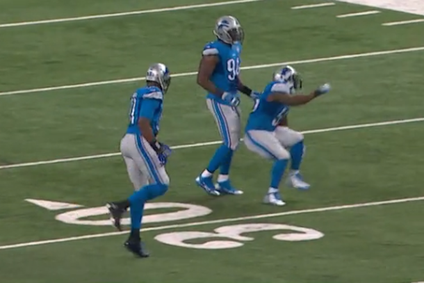 Stephen Tulloch celebration fail