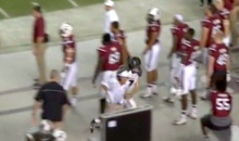 Steve Spurrier Got Run Over by Missouri QB on South Carolina Sideline (Video + GIFs)