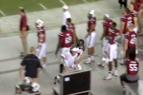 Steve Spurrier got run over by Maty Mauk