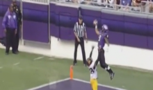 TCU Catch Made by Josh Doctson Gets Made WAY Up in the Air (Video)