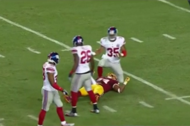Washington linebacker Niles Paul knocked unconscious