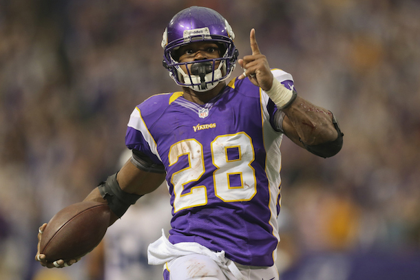 adrian peterson predicts touchdown on his first carry of the season