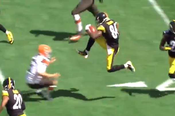 antonio brown kick browns punter in the face
