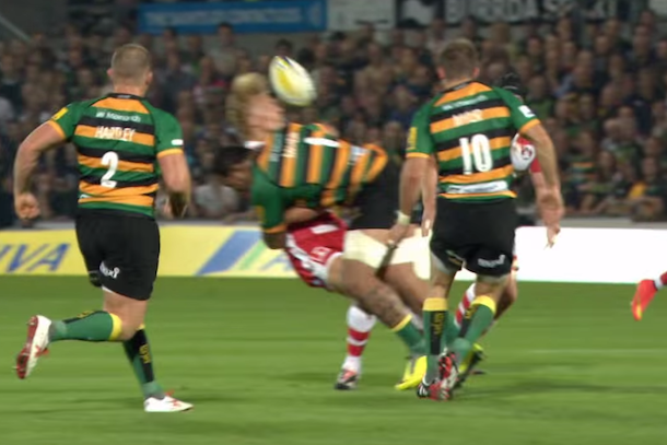 bone-crushing rugby hit from premiership rugby