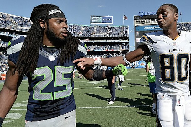 chargers tralk trash exposed Richard Sherman
