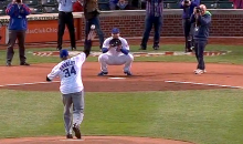 Charles Barkley Threw Out First Pitch at Wrigley, and It Was Turrible (Video)