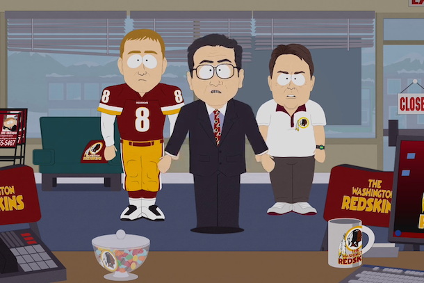 dan snyder kirk cousins gruden - sports figures parodied on south park