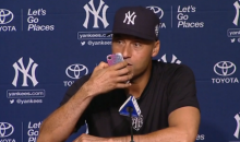 Comedian Derek Jeter Answers Reporter's Phone During Post-Game Press Conference (Video)