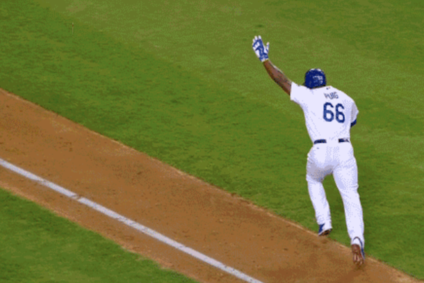 dodgers clinch nl west thanks to puig and kershaw