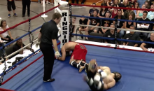 This Double Nutshot KO from a Christian MMA Fight Was the Lord's Will (Video)
