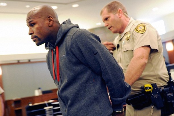 floyd mayweather 87 day prison sentance - athletes who beat their wives domestic violence