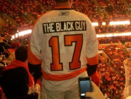 flyers the black guy racist - best customized fan jerseys