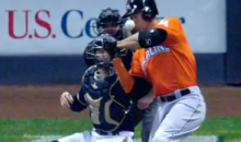 Horrifying Scene: Marlins Slugger Giancarlo Stanton Hit in the Face by Pitch (Video)