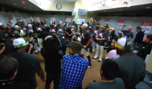 Probably Not a Great Idea to Broadcast Hunter Pence Victory Speech on Live TV (Video)