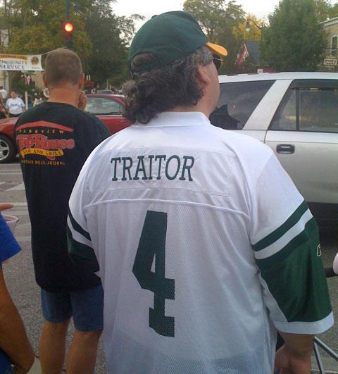 jets favre traitor jersey - best customized fan jerseys
