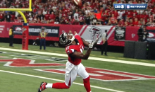 Here's Julio Jones with the Ridiculous Over-the-Head Catch for a Touchdown (GIFs)
