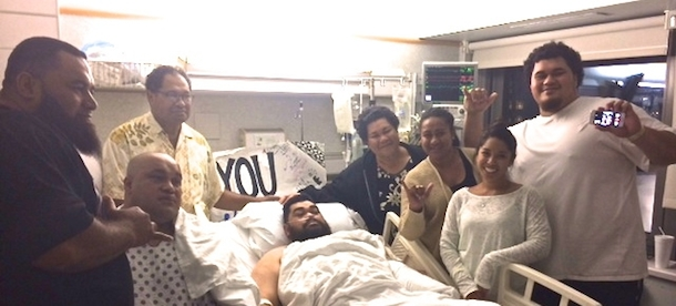 kemoeatu brothers with parents and siblings post surgery