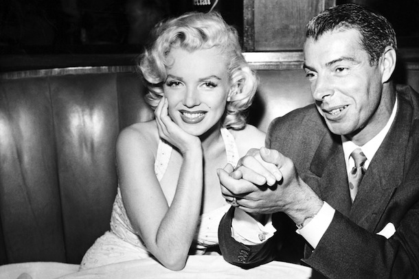 marilyn-monroe-and-joe-dimaggio-athletes-who-beat-their-wives-domestic-violence