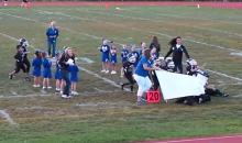 Mighty Mites Football Team Tries to Run Through Banner, Gets Levelled (Video)