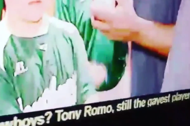 news ticker tony romo still gayest player on cowboys