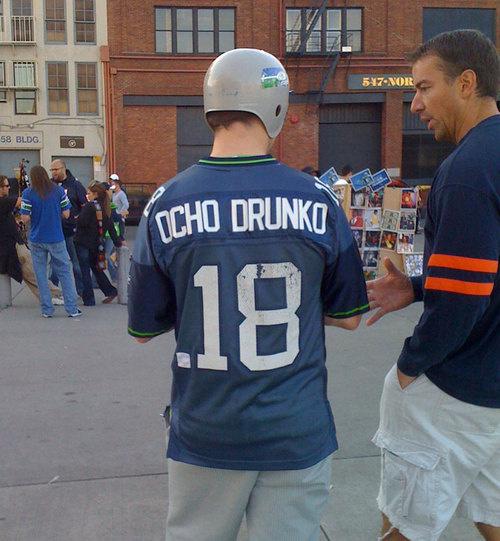 ocho drunko - best customized fan jerseys