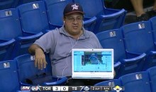 Fan Uses Laptop to Broadcast Rays Game to Friend Over Video Chat (Pic)