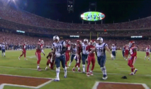 Sad Gronk Gives Us the Saddest Touchdown Spike Ever (GIF)
