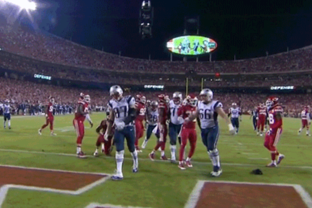sad gronk gives us the saddest touchdown spike