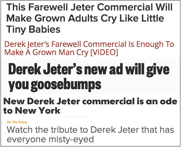 sappy jeter headlines - things we will not miss about derek jeter retirement
