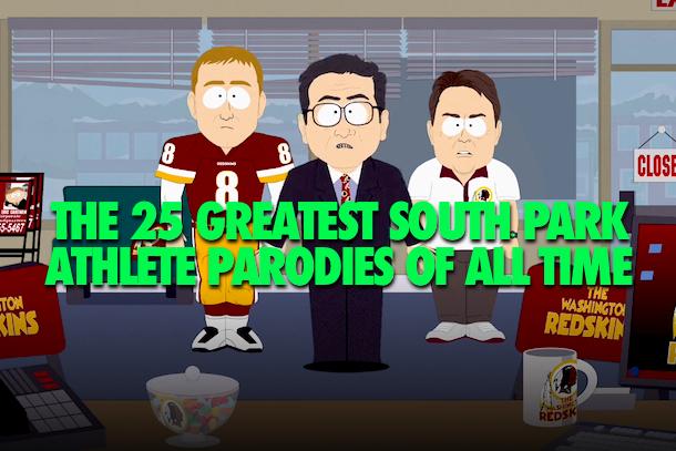 south park athlete parodies (south park sports)